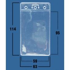 Кармашки белые вертик. 63х114 (59х95) 100шт /уп