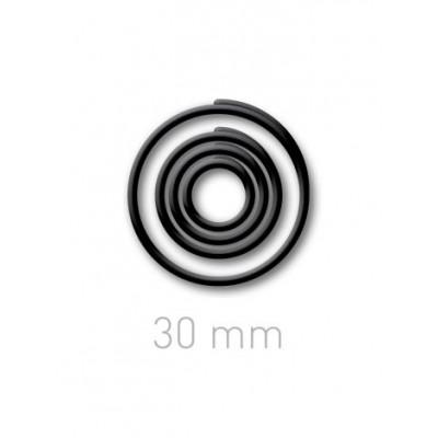 Пластиковые переплётные колечки O.easyRing 30 mm  черные (60 шт.в упаковке) до 240 листов