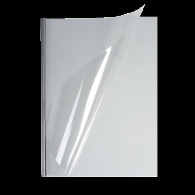 Мягкие обложки А4 O.easyCOVER прозрачные 13мм, серебряные, (