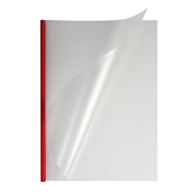 Мягкие обложки прозрачные O.easyCOVER A4 5мм красные 40шт