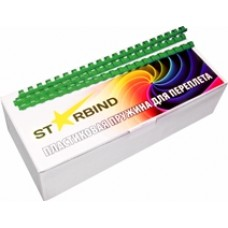 Пластиковые пружины для переплета STARBIND 6 мм.зеленые /100шт./