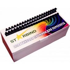 Пластиковые пружины для переплета STARBIND 6 мм.черные /100шт./