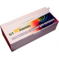 Пластиковые пружины для переплета STARBIND 8 мм.белые /100шт./