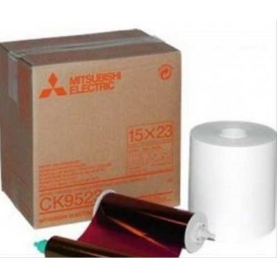 CK-9523 15х23 комплект для фотопечати (270 кадров, рулон фотобумаги и картридж с красящей пленкой)\n CK-9523 15х23 комплект для фотопечати (270 кадров, рулон фотобумаги и картридж с красящей пленкой)