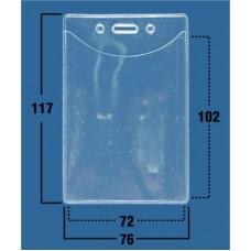 Пакеты жесткие прозрачные вертикальные 76x117 мм, (72х102мм) (100 шт.)