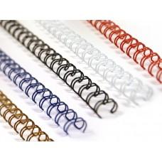 Металлические пружины STARBIND в нарезке 3:1 3/8  9,5 мм.белые /100шт./