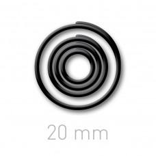 Пластиковые переплётные колечки O.easyRing 20 mm  черные (40 шт.в упаковке) до 140 листов