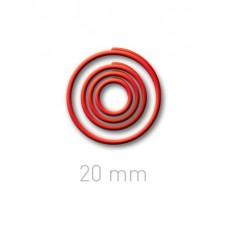 Пластиковые переплётные колечки O.easyRing 20 mm  красные (40 шт.в упаковке) до 140 листов
