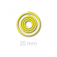 Пластиковые переплётные колечки O.easyRing 20 mm  желтые (40 шт.в упаковке) до 140 листов