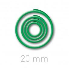 Пластиковые переплётные колечки O.easyRing 20 mm  зеленые (40 шт.в упаковке) до 140 листов