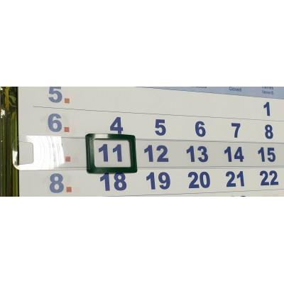 Курсор для календарей на жесткой ленте STARBIND, 100 шт, 2P (24*17) , зеленый, 145-296 мм