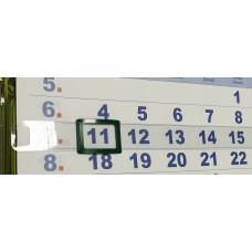 Курсор для календарей на жесткой ленте STARBIND, 100 шт, 2P (24*17) , зеленый, 421-600 мм