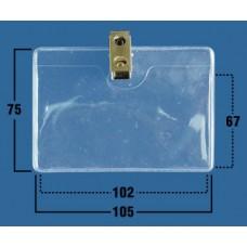 Пакеты жесткие прозрачные горизонтальные, с клипсой 105х75 (102х67мм) (50 шт)