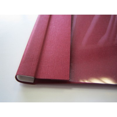 Мягкие обложки C.BIND Softclear 299 х 214 A 10 мм.бордовые 10 шт.