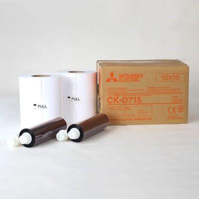 CK-D715 10x15 комплект для фотопечати  для фотопринтеров Mitsubishi CP–D70DW-S / CP–D707DW-S 2-MODUL (2х400 кадров, два рулона фотобумаги и два картриджа с красящей пленкой)