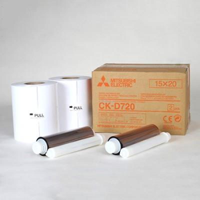 CK-D720 15х20 комплект для фотопечати  для фотопринтеров Mitsubishi CP–D70DW-S / CP–D707DW-S 2-MODUL (2х200 кадров, два рулона фотобумаги и два картриджа с красящей пленкой)