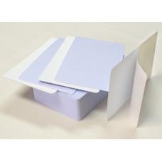 Пластиковые карточки белые самокл. 10262 для проксимити карт, 1уп.(100шт.)