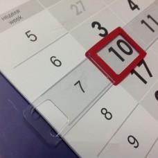 Курсор для календарей на жесткой ленте STARBIND, 4P (34*23), красный, 145-296 мм /100 шт.