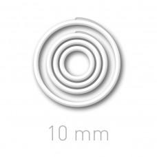 Пластиковые переплётные колечки O.easyRing 10mm  белые (600 шт.в упаковке) до 50 листов