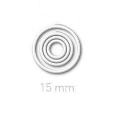 Пластиковые переплётные колечки O.easyRing 15mm  белые (300 шт.в упаковке) до 70 листов
