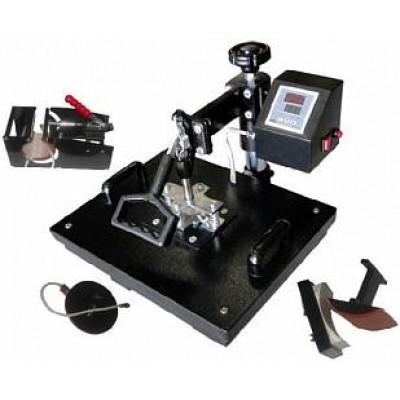 Горизонтально-поворотный термопресс со сменными насадками 4:1 Bulros K-4