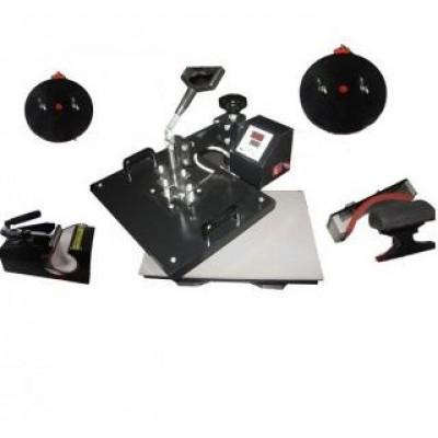Горизонтально-поворотный термопресс со сменными насадками 5:1 Bulros K-5