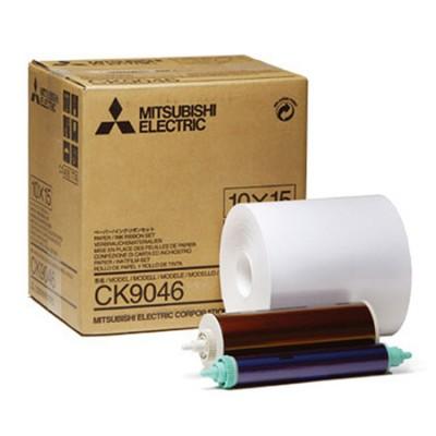 CK 9046 10x15 комплект для фотопечати  для фотопринтеров Mitsubishi CP-9550DW / CP-9810DW  (600 кадров, рулон фотобумаги и картридж с красящей пленкой)