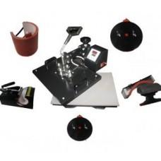 Горизонтально-поворотный термопресс со сменными насадками 6:1 Bulros K-6