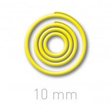 Пластиковые переплётные колечки O.easyRing 10mm  желтые (150 шт.в упаковке) до 50 листов