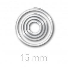 Пластиковые переплётные колечки O.easyRing 15mm  прозрачные (300 шт.в упаковке) до 70 листов