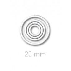 Пластиковые переплётные колечки O.easyRing 20 mm  белые (160 шт.в упаковке) до 140 листов