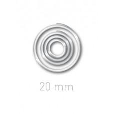 Пластиковые переплётные колечки O.easyRing 20 mm  прозрачные (160 шт.в упаковке) до 140 листов