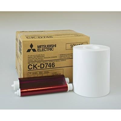 CK-D746 10x15 комплект для фотопечати  для фотопринтеров Mitsubishi CP-D70DW, CP-D707DW 2-MODUL,  CP-D90DW (2х400 кадров, два рулона фотобумаги и два картриджа с красящей пленкой)