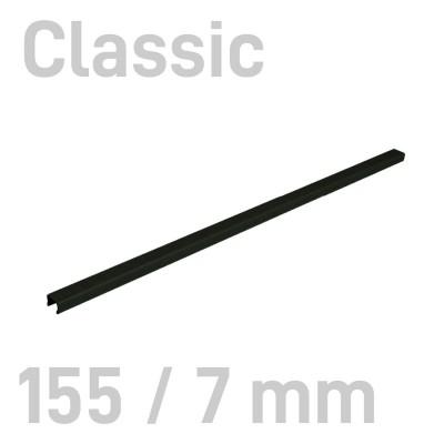 """Канал металлический с покрытием """"ткань"""" Opus Classic 155 мм.7 мм.черные 10 шт."""
