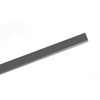 Канал металлический с покрытием Opus Art 217 mm 10 mm серебро  /10 шт/