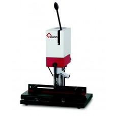 Бумагосверлильная машина Stago одноголовочная, с фиксированным столом и ограничителем PB 1010 F