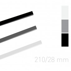 Каналы окрашенные Opus O.Simple channel 210 mm 28 mm серые 25 шт