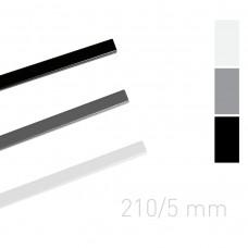 Каналы окрашенные Opus O.Simple channel 210mm 5 mm черные 25 шт
