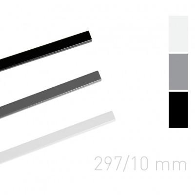 Каналы окрашенные Opus O.Simple channel 297mm 10 mm серые 25 шт