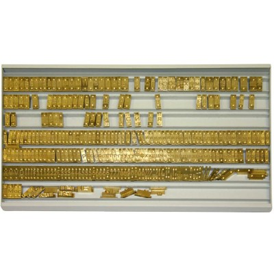 Кассета для шрифтаO.fontCONTAINER to store GOLDCOVER  4mm